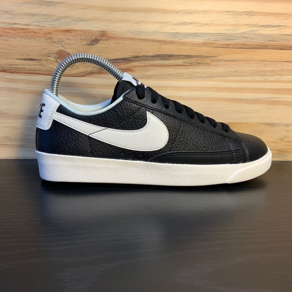 promo code d0913 bcc72 New Nike Blazer Low Premium Leather Black White